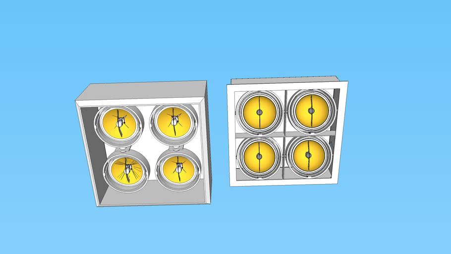 Luminária 4 lâmpadas