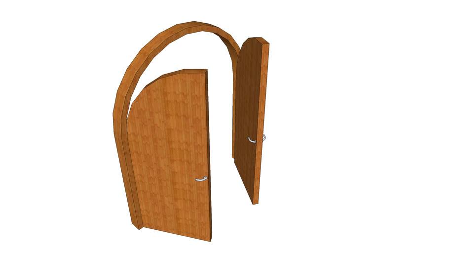 curve door