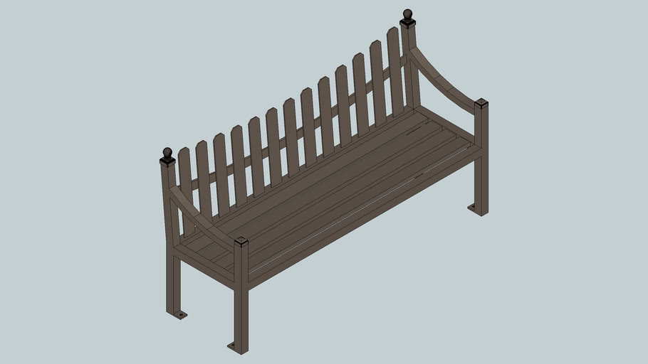 Fenwick 6' Bench with Back