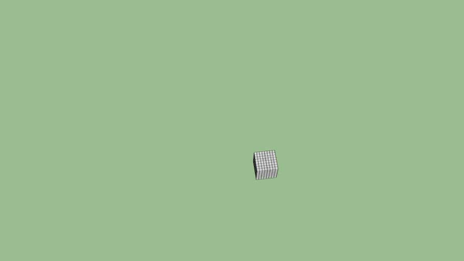 White glass cube