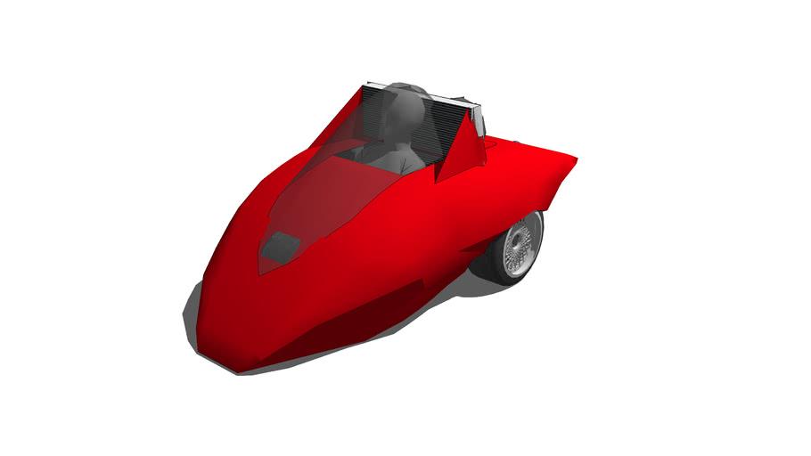 """3-wheel race car """"Mouse GTR"""""""