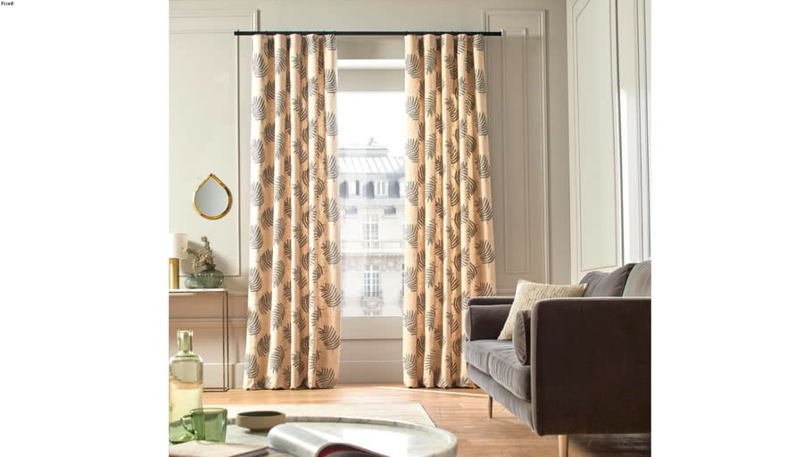 Pencil pleat curtain FILICO by Natural & grey / 269€ - 319€ TTC