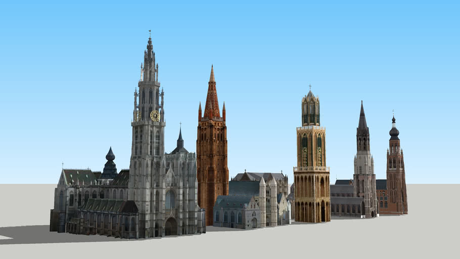 Hoogste kerktorens Benelux (Belgie en Nederland)