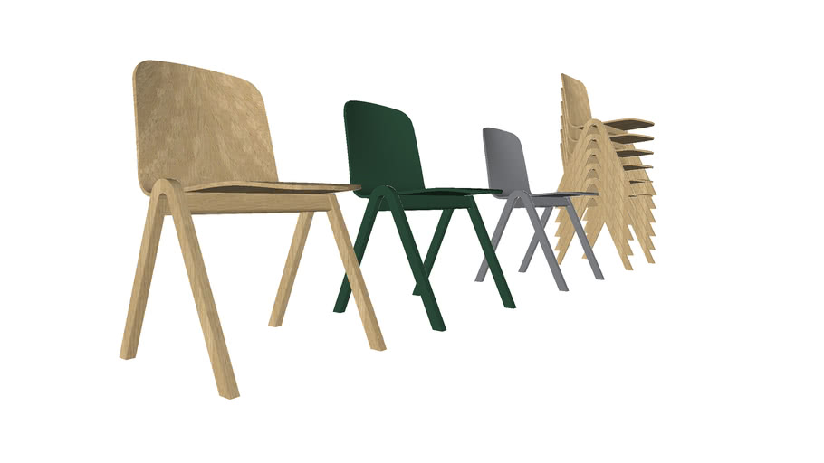 Sky Wood, Stackable chair, FSC, by Icons of Denmark