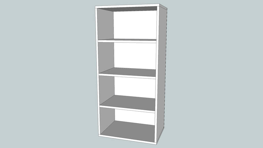 Ikea Tv Meubel Open Kast.Ikea Besta Open Kast 60x40x128 Wit 3d Warehouse