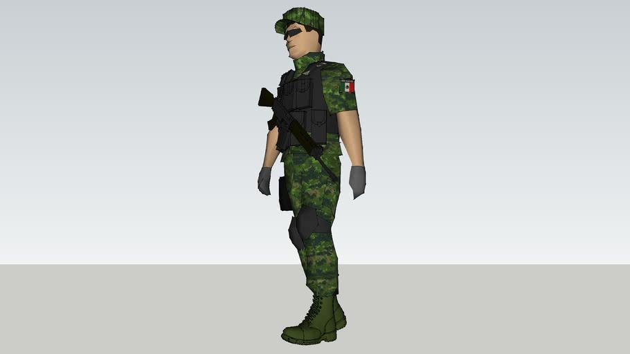 soldado de la sedena de mexico