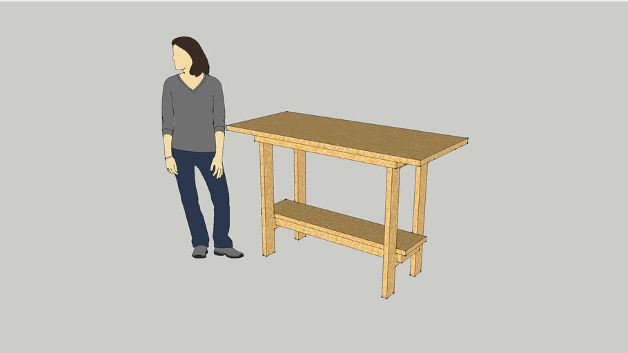 Basic Portable Workbench With Just 2 Sheets of 8x4 MDF