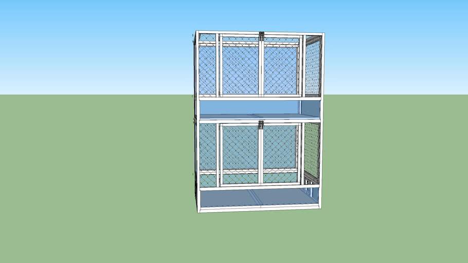 Aluminium knaagdierenkooi (tweedelig)