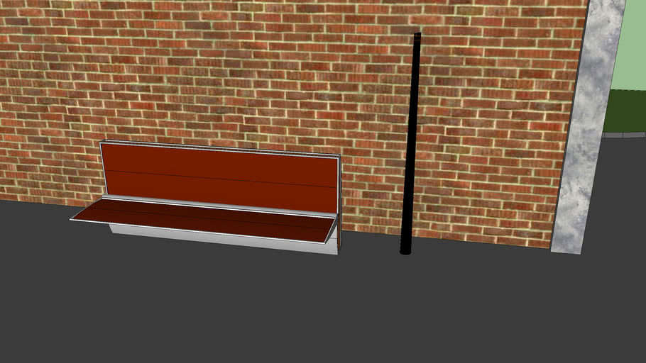 new park bench by road/parl