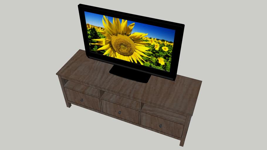 Hemnes Ikea Tv Kast.Hemnes Tv Meubel 3d Warehouse