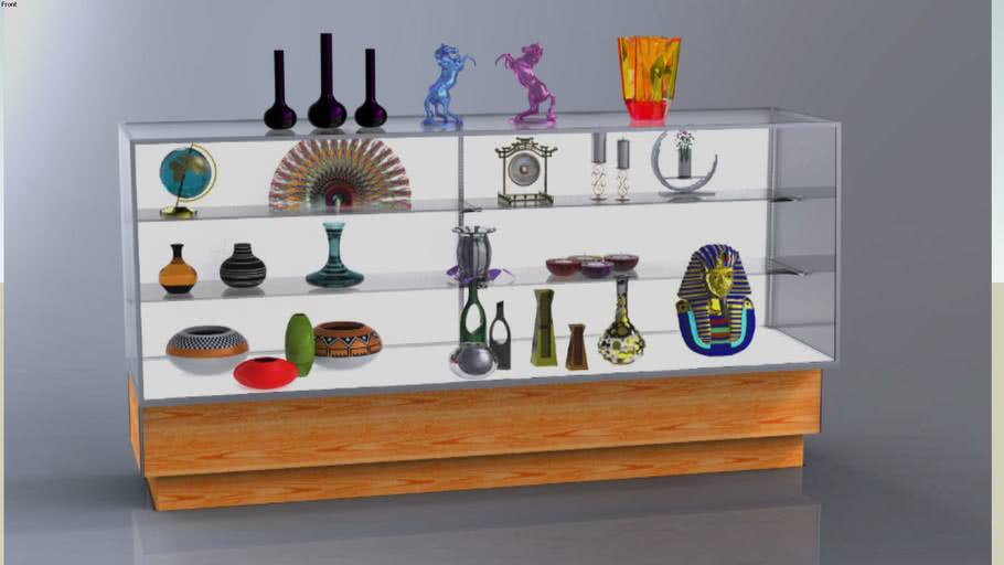 Maple Glass Display Case for Retailers