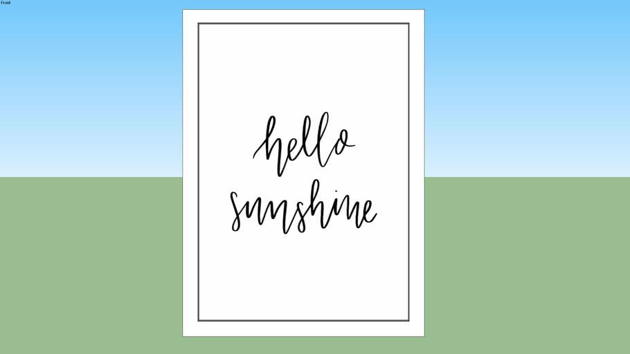 Quadro-Hello Sunshine