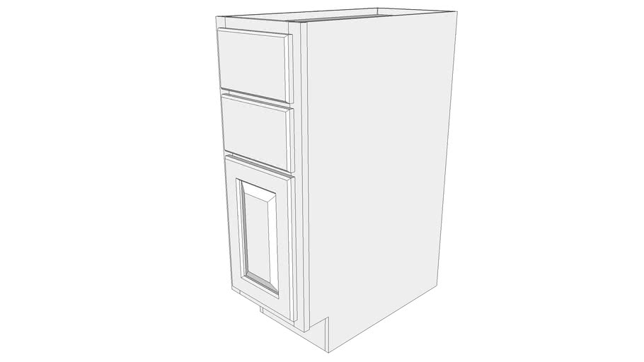 Briarwood Base Cabinet B2D12 - Two Drawers, One Door
