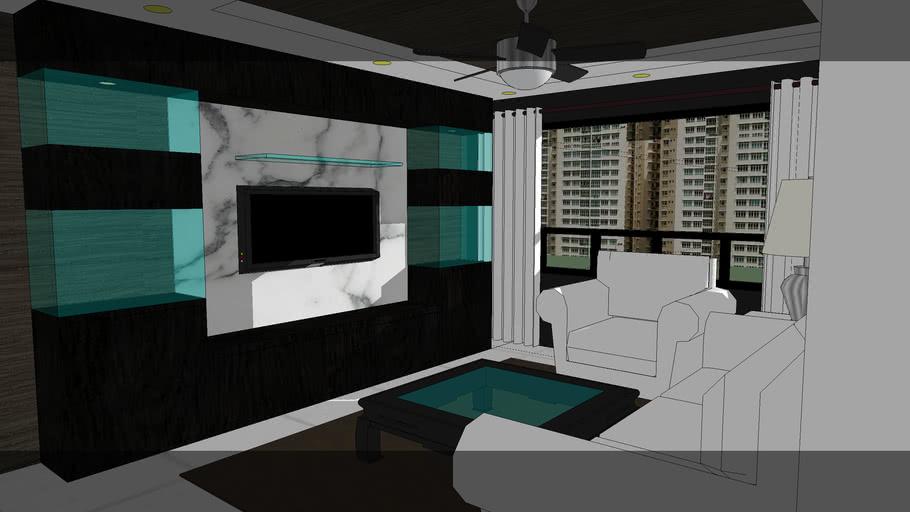 Wong Interiors' HDB 5 room project pasir ris