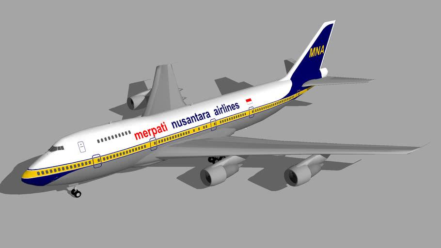 Merpati Boeing 747-200 2
