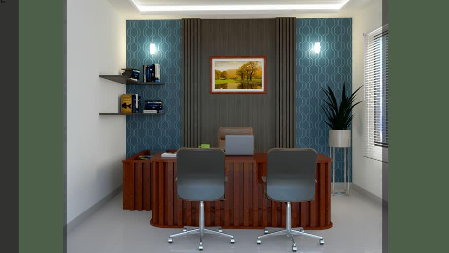 Office Interior Decoration Boss Room 3d Warehouse