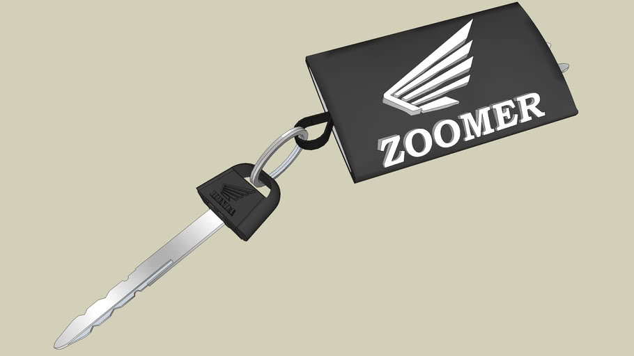 HONDA ZOOMER-RUCKUS 50 MOTORCYCLE KEY-LLAVE per RICARD