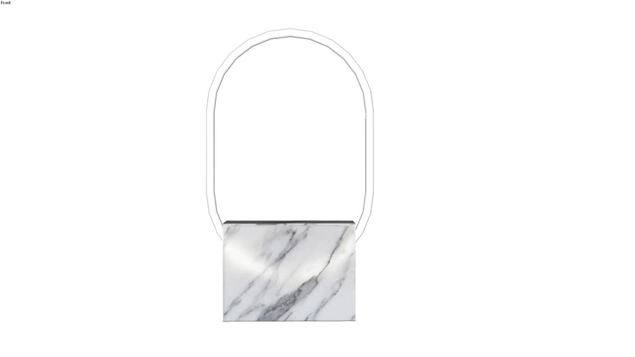 Sabine Marcelis Voie Small Oval White Marble