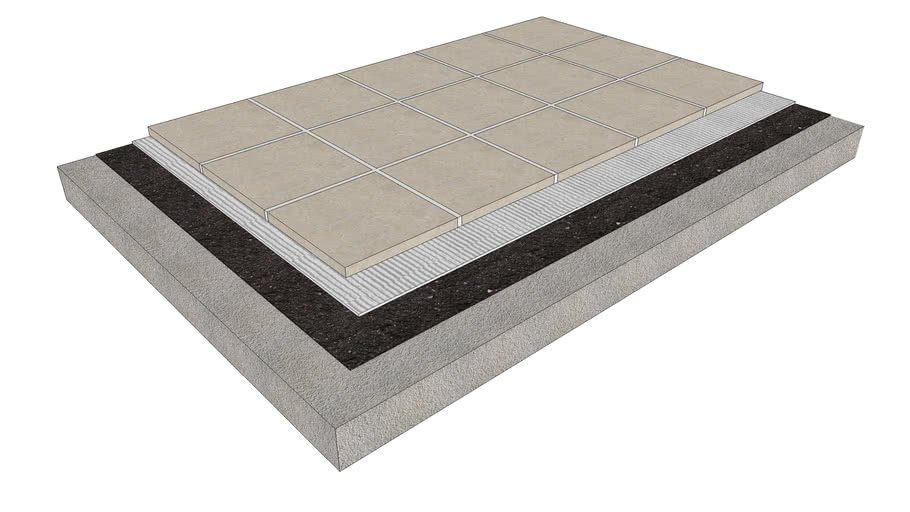 Floor Tile - Thinset on Concrete or Cured Mortar Bed