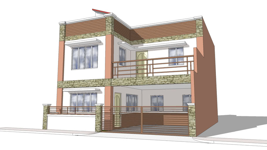two storey with roof deck residence