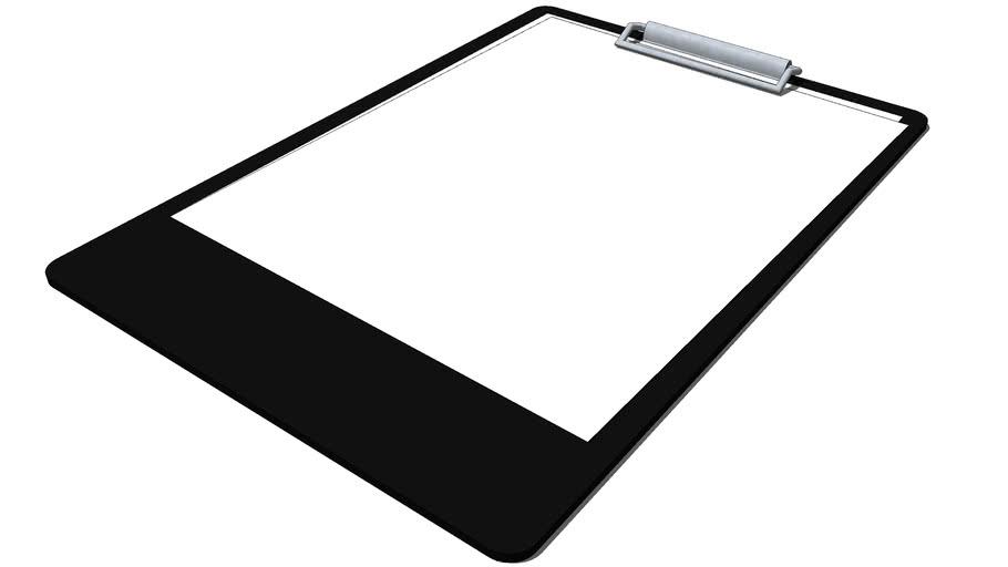 Paper Clip Board (Black)
