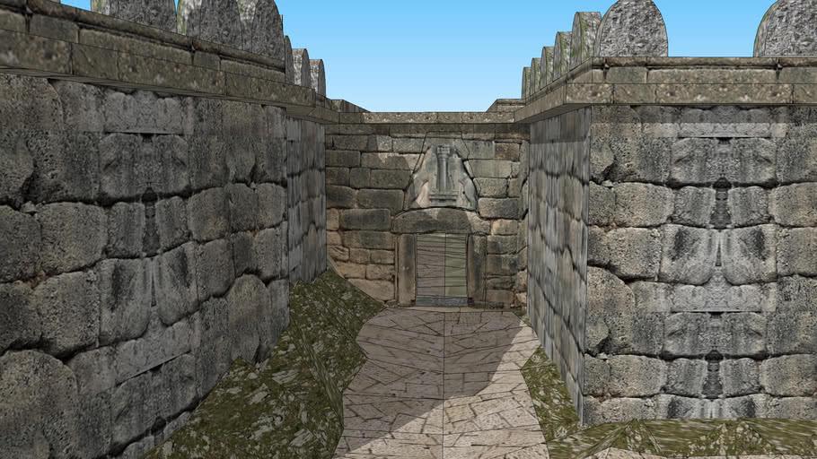 Micene,Porta dei Leoni, riscostruzione