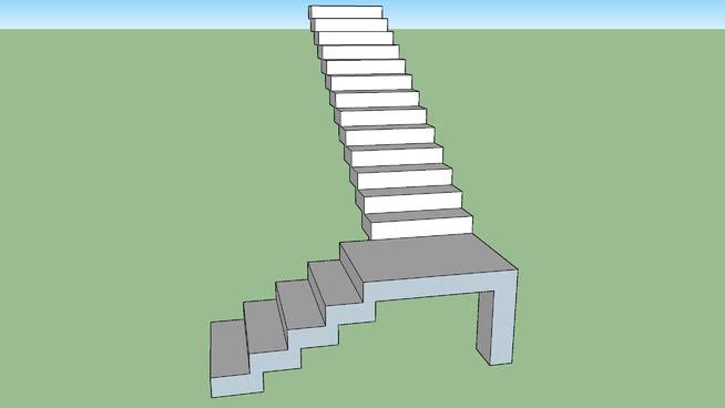 Escada de concreto com patamar 2.0