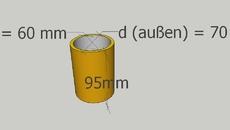 Zylinder mit Bemaßung