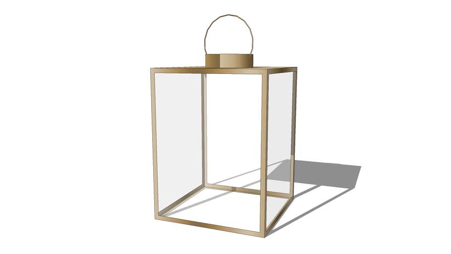 Lanterne en verre et métal effet bronze CHENA REF 164769 PRIX 65.90€