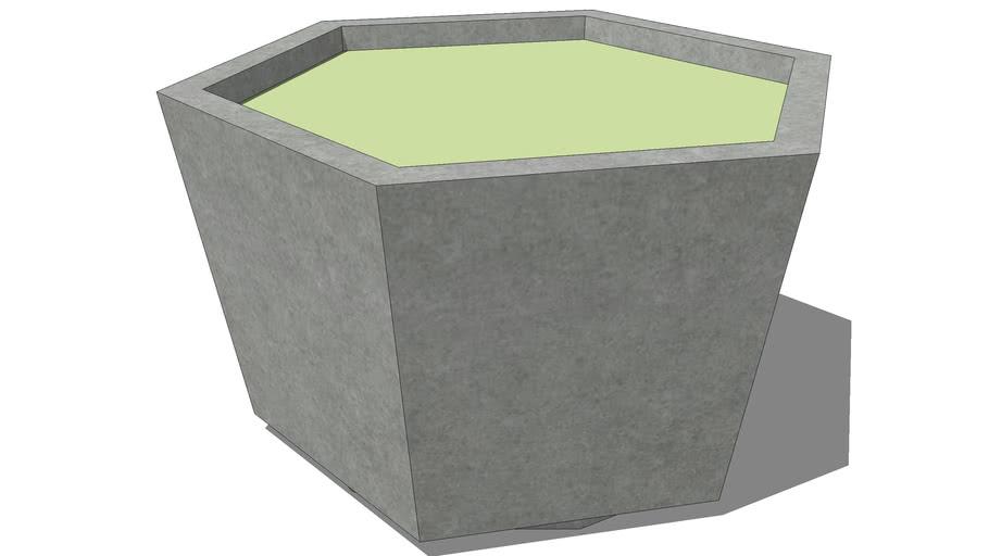 Concrete hex planter 48 in