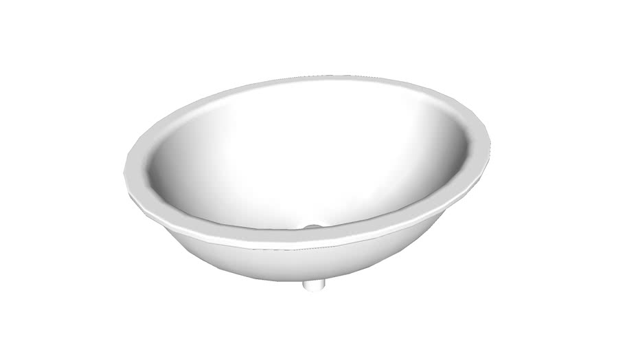 K-14218-FP1 Sartorial(TM) Paisley Caxton(R) Oval under-mount bathroom sink