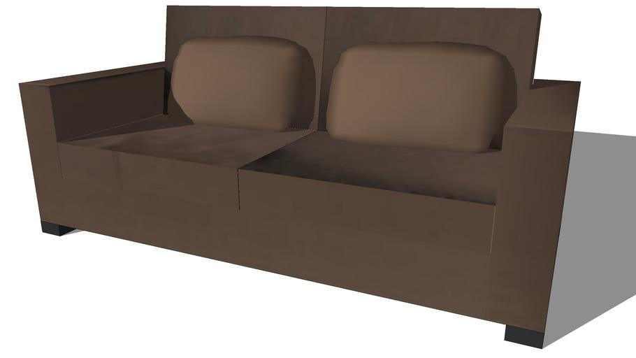 Milano, canapé 3places chocolat,Maisons du monde,501.80506,prix: 590€