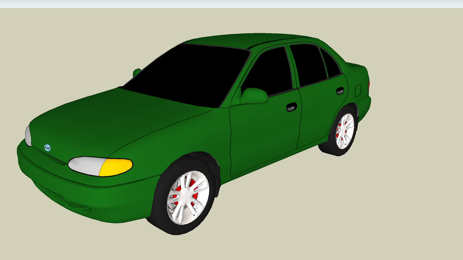 Hyundai Accent 2000 3d Warehouse