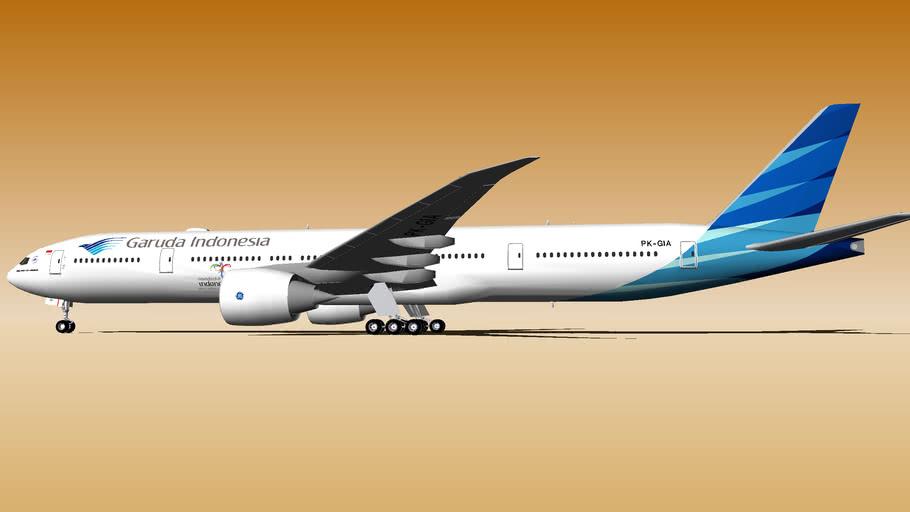 Garuda Indonesia Boeing 777-3U3/ER PK-GIA (2014) (Wi-Fi Dome)