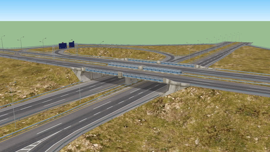 Partial cloverleaf interchange (Parclo A4)