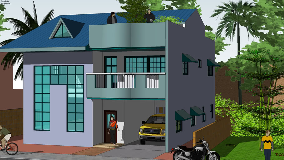 Proposed 2 storey residence located in tagaytay city , Philippines
