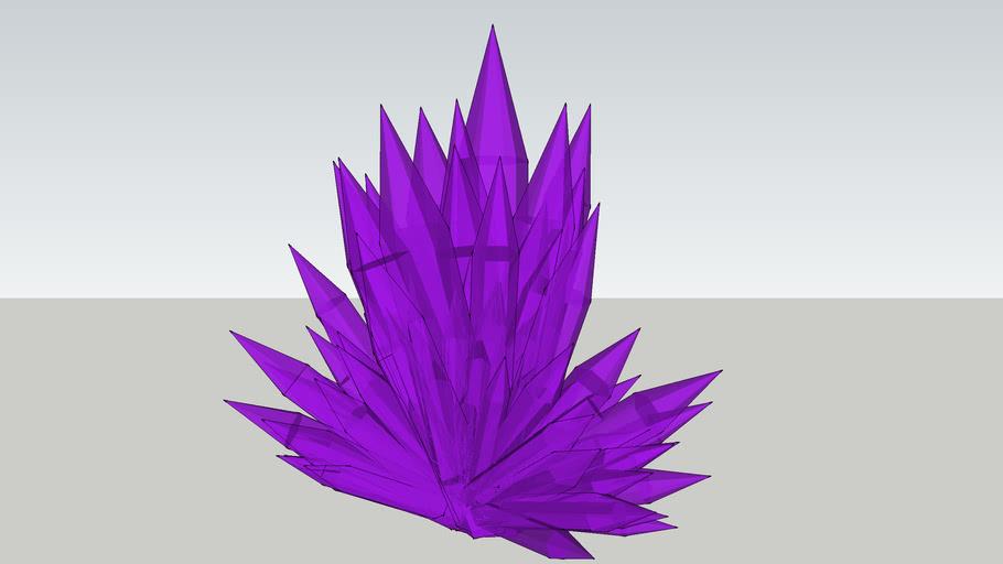 purple crystal formation