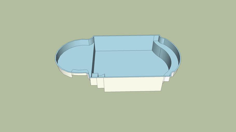 piscina de fibra 8,00 x 4,00 x1,40