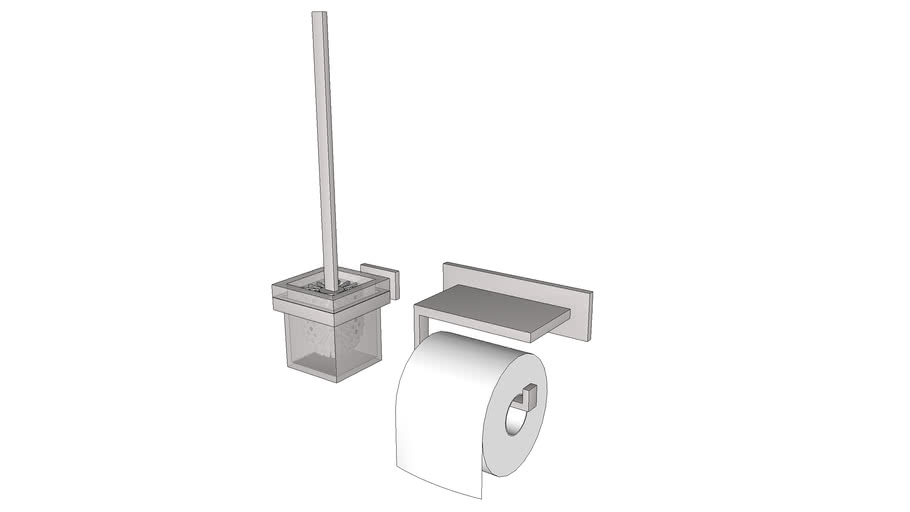 Туалетная бумага, ёршик, ершик (toilet paper, brush)