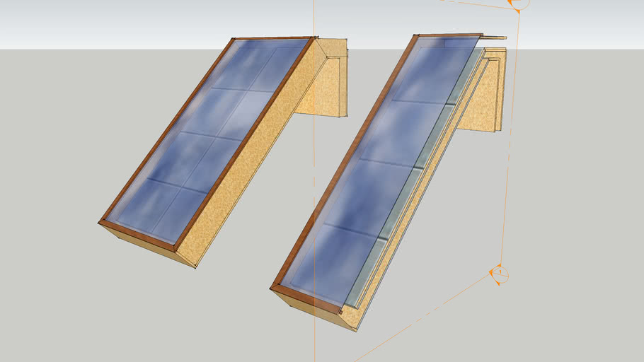 Passive Solar Window Heater (thermosyphon)