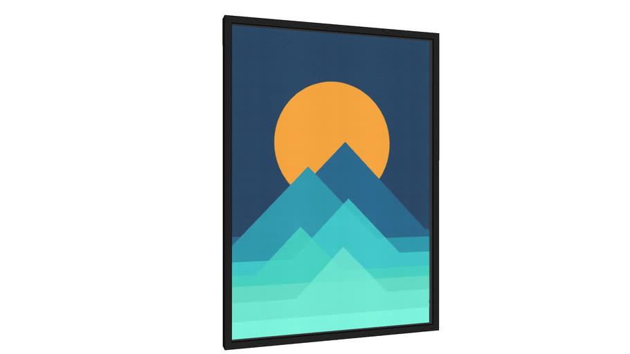 Quadro Montanhas Geométricas II - Galeria9, por Vitor Costa