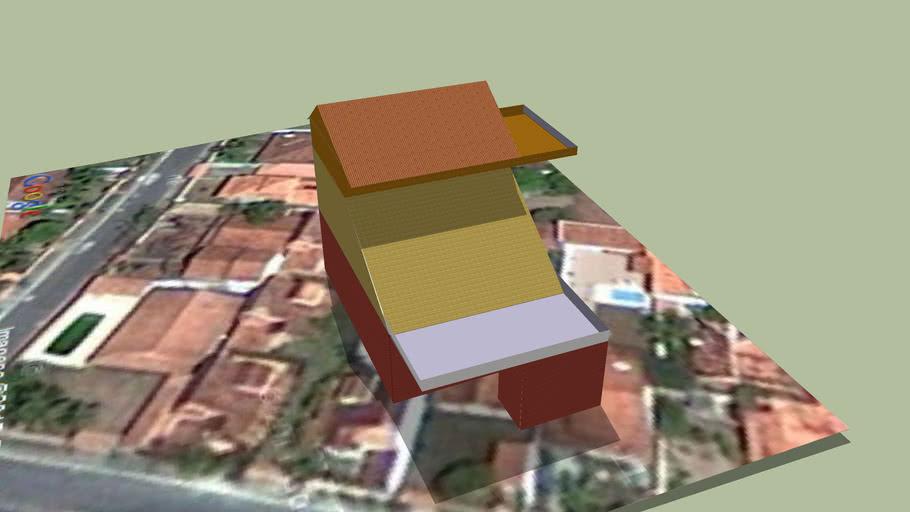 Casa que eu fiz no Google SketchUp