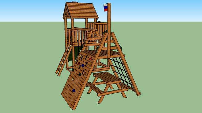 Детская игровая площадка Выше Всех Победа горка слева