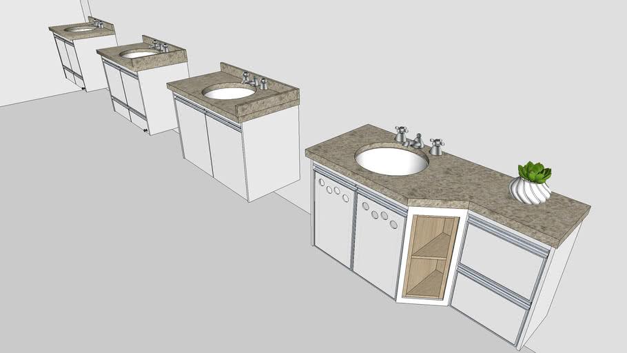 Gabinetes para banheiro