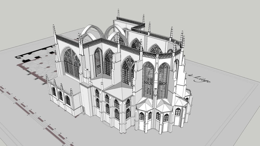 Gothic cathedral 1/7 Choir and transept