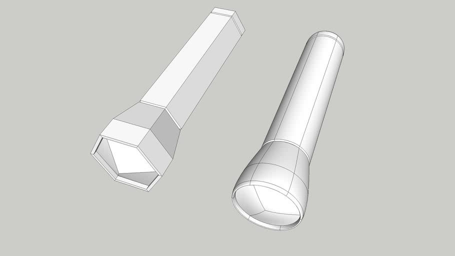 3D Basecamp 216 Quad Modeling Class - Flashlight