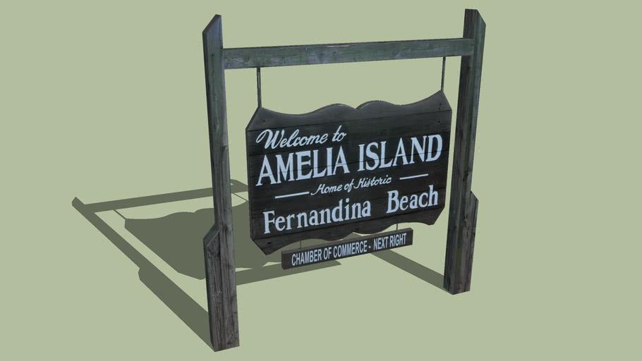 Welcome Sign Amelia Island, Florida