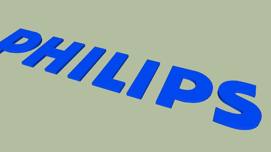 Logo Philips en 3D