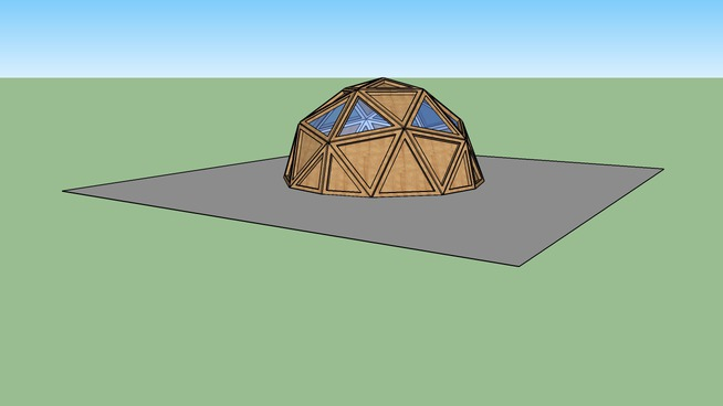 3v Octahedral Geodesic Dome