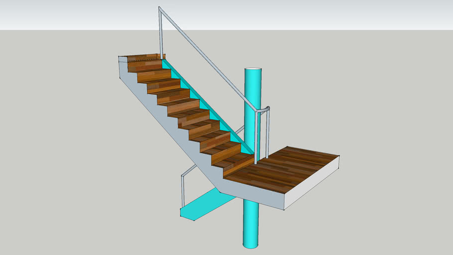 Stair and collumn